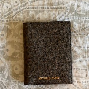 Michael Kors Medium Logo Passport Wallet NEW